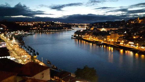 View from Jardim do Morro in Porto