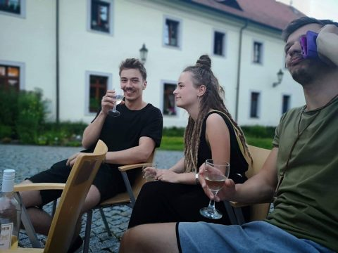White wine in Ostrov; The Czech Republic